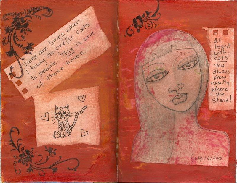 An early journal spread, circa 2010.